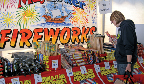 What are some fireworks safety tips?